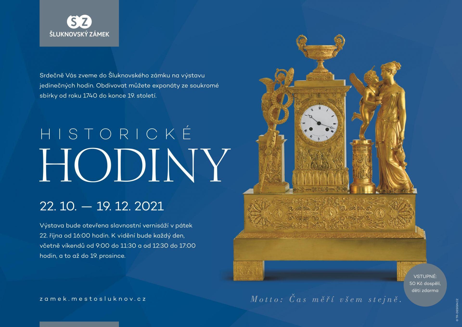 Výstava historických hodin